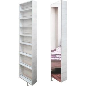 Поворотный зеркальный шкаф Shelf.On Драйв Шелф беленый дуб лево фото