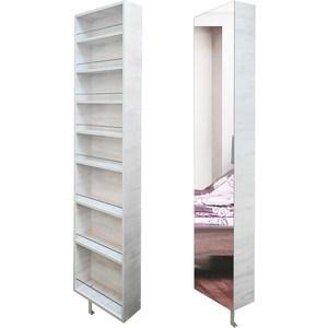 Поворотный зеркальный шкаф Shelf.On Драйв Шелф беленый дуб право поворотный зеркальный шкаф shelf on зум шелф эко молочный дуб