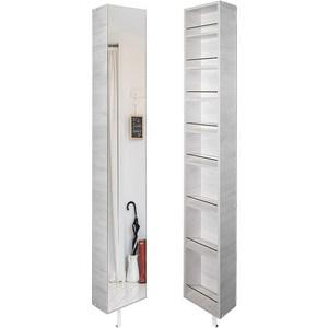 Поворотный зеркальный шкаф Shelf.On Лупо Шелф беленый дуб лево поворотный зеркальный шкаф shelf on зум шелф эко молочный дуб