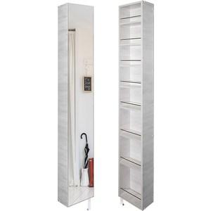 Поворотный зеркальный шкаф Shelf.On Лупо Шелф беленый дуб право шкаф купе премиум 1188 дуб беленый