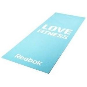 Коврик для фитнеса Reebok RAMT-11024BLL (мат) тонкий Love (голубой)