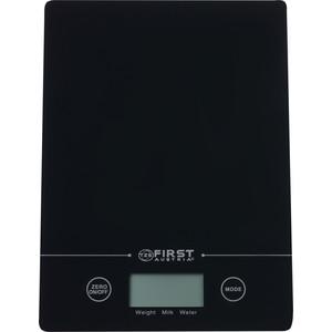 Весы кухонные FIRST FA-6400 Black first fa 6400 2 wi white кухонные весы