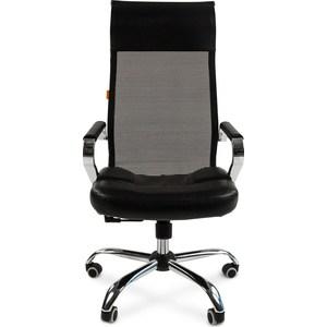 Офисное кресло Chairman 700 экопремиум черный/сетка офисное кресло profoffice skin сетка кожа белый черный хром сетка кожа полозья