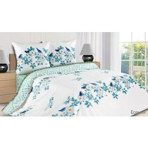 Комплект постельного белья Ecotex Евро с резинкой, поплин, Есения (4680017865173)