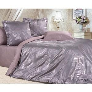купить Комплект постельного белья Ecotex Евро, сатин-жаккард, Виктория(КЭЕВиктория) (4670016953216) онлайн