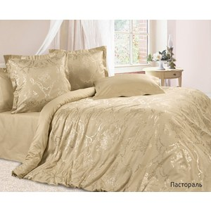 купить Комплект постельного белья Ecotex Евро, сатин-жаккард, Пастораль(КЭЕПастораль ) (4670016951250) онлайн