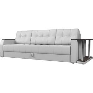 Диван-еврокнижка АртМебель Атлант эко-кожа белый стол с правой стороны