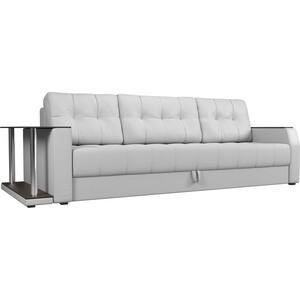 Диван-еврокнижка Мебелико Атлант эко-кожа белый стол с левой стороны