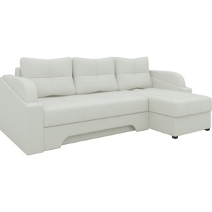 Угловой диван Мебелико Панда эко-кожа белый правый диван угловой мебелико атлантис эко кожа белый правый