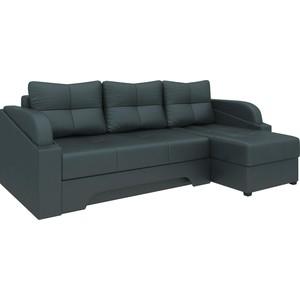 Угловой диван Мебелико Панда эко-кожа черный правый