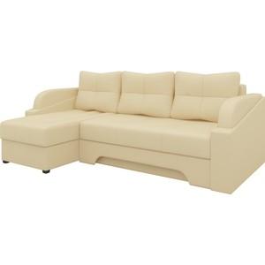 Угловой диван Мебелико Панда эко-кожа бежевый левый
