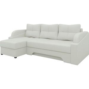 Угловой диван Мебелико Панда эко-кожа белый левый