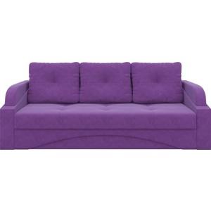 Диван-еврокнижка Мебелико Панда микровельвет фиолетовый диван еврокнижка мебелико европа микровельвет зелено бежевый