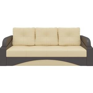 Диван-еврокнижка Мебелико Панда эко-кожа бежево/коричневый диван мебелико малютка эко кожа бежево коричневый