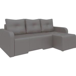 Угловой диван Мебелико Манхеттен эко-кожа коричневый правый угловой диван мебелико манхеттен эко кожа бежевый правый