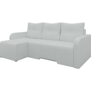 Угловой диван Мебелико Манхеттен эко-кожа белый левый угловой диван мебелико камелот эко кожа белый левый угол