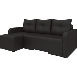 Угловой диван Мебелико Манхеттен эко-кожа коричневый левый угловой диван мебелико манхеттен эко кожа бело черный левый