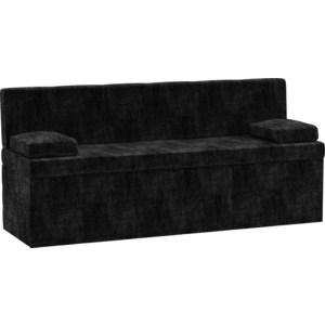Кухонный диван АртМебель Лео микровельвет черный