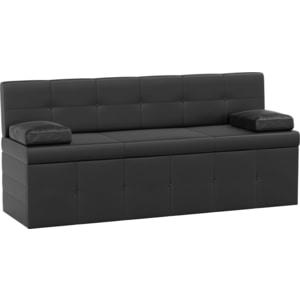 Кухонный диван АртМебель Лео эко-кожа черный