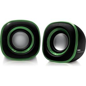 Компьютерные колонки BBK CA-301S черный/зеленый цена