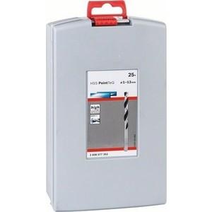 Набор сверл по металлу Bosch 1.0-13мм 25шт HSS PointTeQ ProBox (2.608.577.352) набор сверл по металлу bosch hss r 19 шт