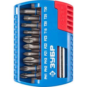 Набор бит Зубр с магнитным адаптером 11 предметов (26051-H11)