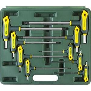 Набор ключей имбусовых Kraftool Industrie Т-образные HEX с шариком 9 шт (27454-H9)