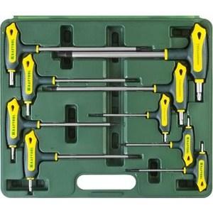 Набор ключей имбусовых Kraftool Industrie Т-образные TORX Hole 10-50, 9шт (27455-H9)