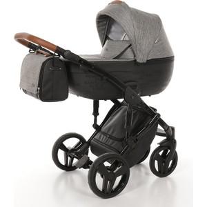 Детская коляска 2 в 1 Junama City JMC-01 черный с городами/темно-серый детская коляска 2 в 1 junama diamond jd 01 темно синий белый короб