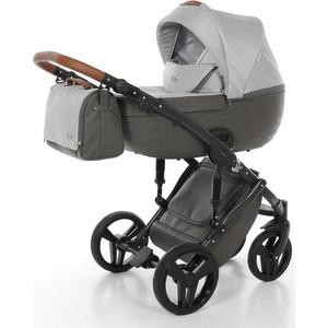 Детская коляска 2 в 1 Junama City JMC-02 серый с городами/светло-серый обогреватель supra tvs 220f 2 светло серый