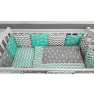 Комплект в кроватку By Twinz с бортиками-подушками 6 пр. Короны мятные компливит кальций д3 30 таблетки мятные