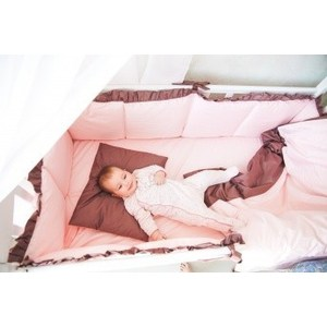 Комплект в кроватку By Twinz 6 пр. Персики в шоколаде Классика комплект в кроватку bombus l abeille spring song 6 пр