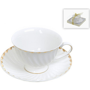 Чайная пара Best Home Porcelain Золотая волна (1210101) цены онлайн