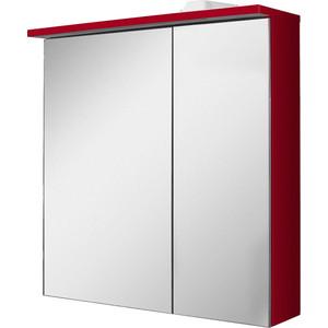 Зеркальный шкаф Am.Pm Spirit 2.0 60 левый, с подсветкой, левый красный (M70AMCL0601RG)