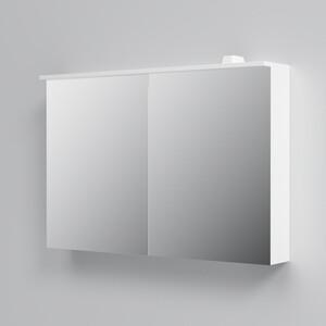 Зеркальный шкаф Am.Pm Spirit 2.0 100 с подсветкой, белый (M70AMCX1001WG)
