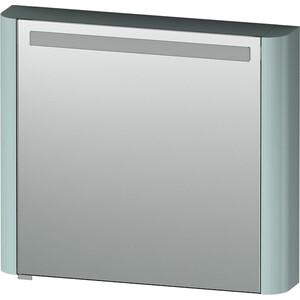 Зеркальный шкаф Am.Pm Sensation 80 правый, с подсветкой, мятный (M30MCR0801GG) зеркальный шкаф am pm sensation 80 правый с подсветкой белый глянец m30mcr0801wg
