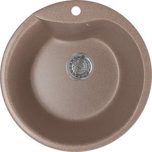 Кухонная мойка Mixline ML-GM12 48х48 терракотовый 307 (4630030633167) смеситель для кухни mixline ml gs04 терракотовый 307 4620031444138