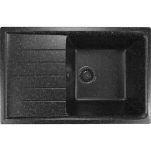 Кухонная мойка Mixline ML-GM19 49,5х75 черный 308 (4630030634751)