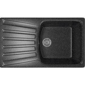 Кухонная мойка Mixline ML-GM20 48x83 черный 308 (4630030634997)