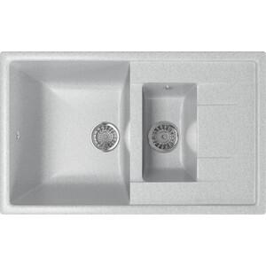 Фото - Кухонная мойка Mixline ML-GM22 77x49,5 серый 310 (4630030635444) кухонная мойка mixline ml gm10 44х44 серый 310 4630030632566