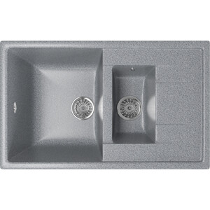 Кухонная мойка Mixline ML-GM22 77x49,5 темно-серый 309 (4630030635505)