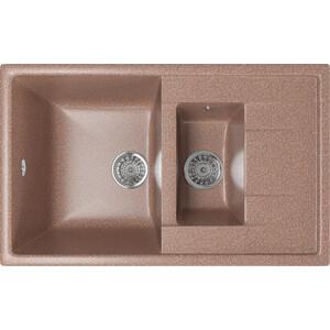 Кухонная мойка Mixline ML-GM22 77x49,5 терракотовый 307 (4630030635567) смеситель для кухни mixline ml gs04 терракотовый 307 4620031444138