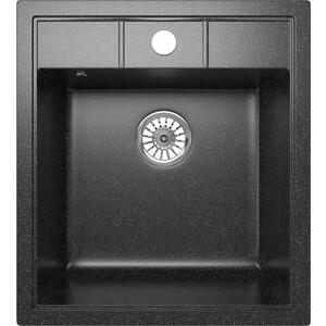 Кухонная мойка Mixline ML-GM28 44,5х50 черный 308 (4620031446774)
