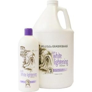 Шампунь 1 All Systems Pure White Lightening Shampoo осветляющий для кошек и собак 3,78л