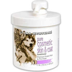 Крем-основа 1 All Systems Pure Cosmetic Skin & Coat Conditioner Premium Protein Pack Pre-Chalk под пудру для кожи и шерсти собак 454мл