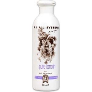 Кондиционер 1 All Systems Pure Lanolin Plus Skin & Hair Emollient с ланолином смягчающий для кожи и шерсти кошек собак 250мл