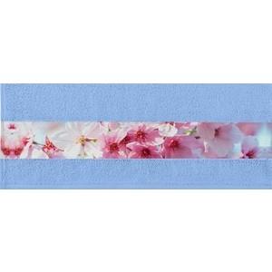 Полотенце Aquarelle Фотобордюр цветы, светло-васильковый 70х140 (709817)