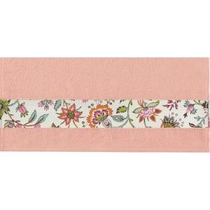 Полотенце Aquarelle Фотобордюр цветы, розово-персиковый 70х140 (709818)