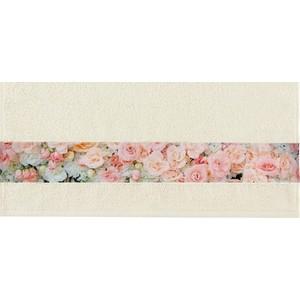 Полотенце Aquarelle Фотобордюр цветы , ваниль 70х140 (709820)