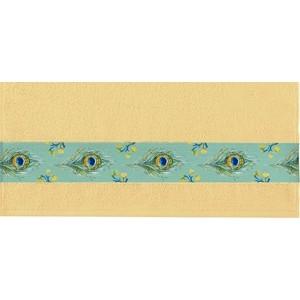 Полотенце Aquarelle Фотобордюр павлин, желтый 70х140 (709821)